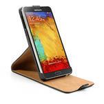 Flipové kožené puzdro pre Samsung Galaxy Note 3- čierné - 6/7