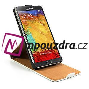 Flipové kožené puzdro na Samsung Galaxy Note 3- biele - 6