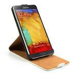 Flipové kožené puzdro na Samsung Galaxy Note 3- biele - 6/6