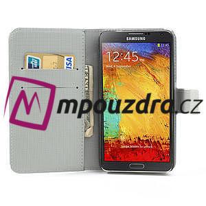 Peňaženkové  puzdro pre Samsung Galaxy Note 3- zebrované - 6