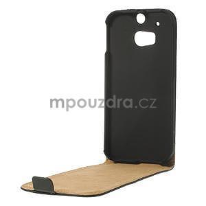 Flipové puzdro pre HTC one M8- čierné - 6