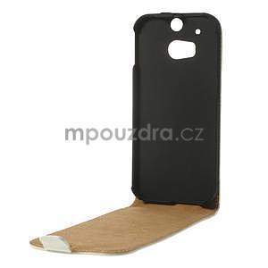 Flipové puzdro pre HTC one M8- biele - 6