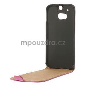 Flipové puzdro pre HTC one M8-růžové - 6