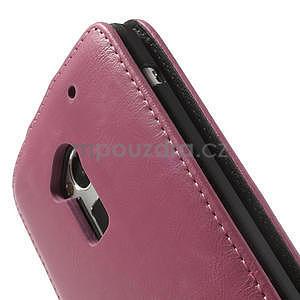 Flipové puzdro HTC one Max- růžové - 6