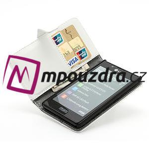 Peňaženkové puzdro na LG Optimus L7 P700 - biele - 6