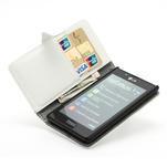 Peňaženkové puzdro na LG Optimus L7 P700 - biele - 6/7