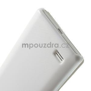 Flipové puzdro pre LG Optimus L9 P760- biele - 6
