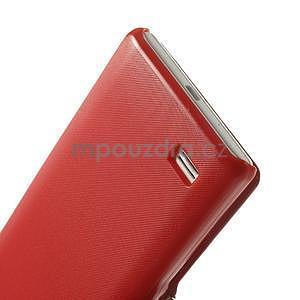 Flipové puzdro pre LG Optimus L9 P760- červené - 6