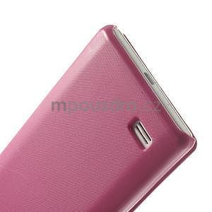 Flipové puzdro pre LG Optimus L9 P760- růžové - 6