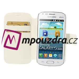 Peňaženkové puzdro na Samsung Trend plus, S duos - biele - 6