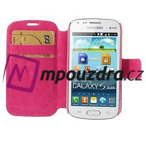 Peňaženkové puzdro na Samsung Trend plus, S duos - růžové - 6