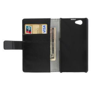 Peňaženkové puzdro na Sony Xperia Z1 Compact D5503- čierné - 6
