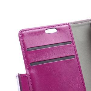 Knížkové PU kožené puzdro pre Lenovo Vibe K5 / K5 Plus - fialové - 6