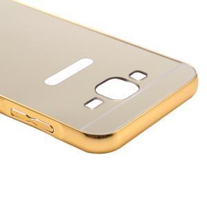 Odolný obal s kovovým obvodem na Samsung Galaxy J5 (2016) - zlatý - 6