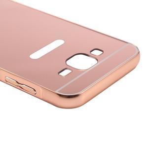 Odolný obal s kovovým obvodem na Samsung Galaxy J5 (2016) - růžovozlatý - 6