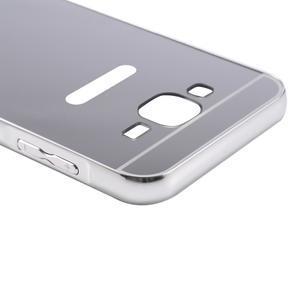 Odolný obal s kovovým obvodem na Samsung Galaxy J5 (2016) - stříbrný - 6