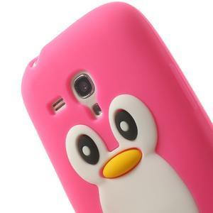 Silikonový tučniak puzdro pre Samsung Galaxy S3 mini i8190- ružový - 6