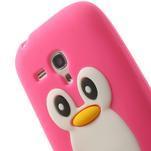 Silikonový tučniak puzdro pre Samsung Galaxy S3 mini i8190- ružový - 6/7
