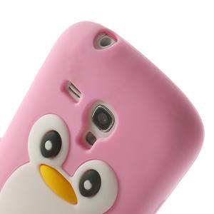 Silikonový tučniak puzdro pre Samsung Galaxy S3 mini i8190- svetloružový - 6
