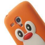 Silikonový TUČŃÁK puzdro na Samsung Galaxy S3 mini i8190- oranžový - 6/7