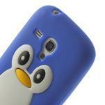 Silikonový tučniak puzdro pre Samsung Galaxy S3 mini i8190- modrý - 6/7