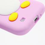 Silikonový Tučňák pouzdro pro Samsung Galaxy S4 i9500- světle-růžový - 6/7