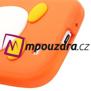 Silikonový Tučniak puzdro pro Samsung Galaxy S4 i9500- oranžový - 6