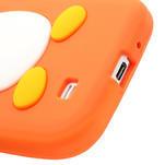 Silikonový Tučniak puzdro pro Samsung Galaxy S4 i9500- oranžový - 6/6