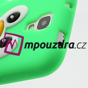 Silikonový Tučniak puzdro pro Samsung Galaxy S4 i9500- zelený - 6