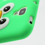 Silikonový Tučniak puzdro pro Samsung Galaxy S4 i9500- zelený - 6/6