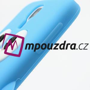 Silikonový Tučňák pouzdro pro Samsung Galaxy S4 i9500- světle-modrý - 6