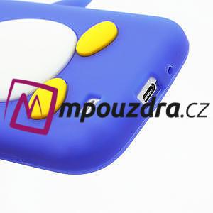 Silikonový Tučniak puzdro pro Samsung Galaxy S4 i9500- modrý - 6