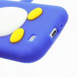 Silikonový Tučniak puzdro pro Samsung Galaxy S4 i9500- modrý - 6/6