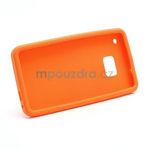 Silikonové puzdro pre HTC one M7- oranžové - 6