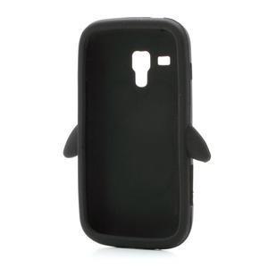 Silikonový Tučňák puzdro na Samsung Galaxy Trend, Duos- čierny - 6
