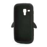 Silikonový Tučňák puzdro na Samsung Galaxy Trend, Duos- čierny - 6/6