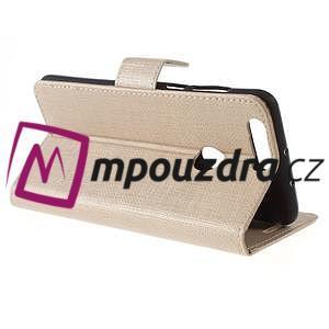 Clothy peněženkové puzdro na mobil Honor 8 - zlaté - 6