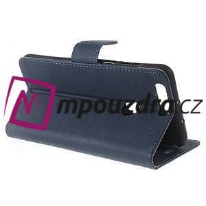 Clothy Peňaženkové puzdro pre mobil Honor 8 - tmavomodré - 6