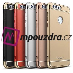 Luxusné odolný obal 3v1 pre mobil Honor 8 - zlatoružový - 6