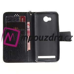 Dandelion PU kožené puzdro na mobil Huawei Y3 II - čierne - 6