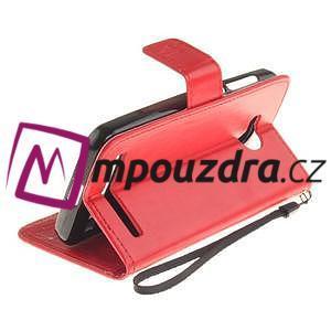 Dandelion PU kožené puzdro na mobil Huawei Y3 II - červené - 6
