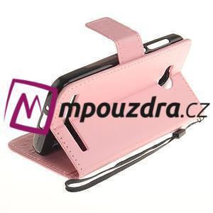 Dandelion PU kožené puzdro na mobil Huawei Y3 II - růžové - 6