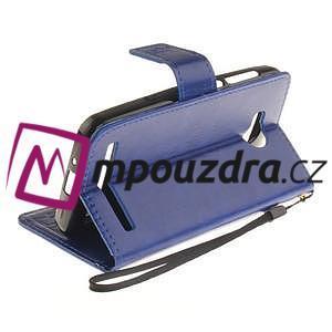 Dandelion PU kožené puzdro na mobil Huawei Y3 II - modré - 6