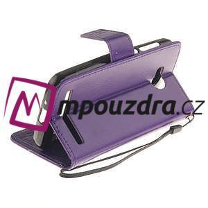 Dandelion PU kožené puzdro na mobil Huawei Y3 II - fialové - 6