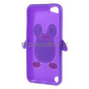Penguin silikónový obal pre iPod Touch 6 / iPod Touch 5 - fialový - 6