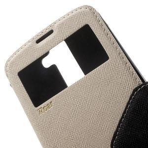 Diary PU kožené pouzdro s okýnkem na LG K8 - bílé - 6