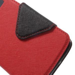 Diary PU kožené puzdro s okienkom na LG K8 - červené - 6