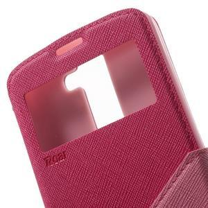Diary PU kožené pouzdro s okýnkem na LG K8 - rose - 6