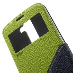 Diary PU kožené puzdro s okienkom na LG K8 - zelené - 6