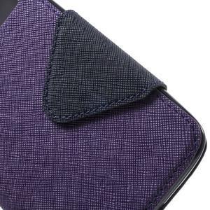 Diary PU kožené puzdro s okienkom na LG K8 - fialové - 6